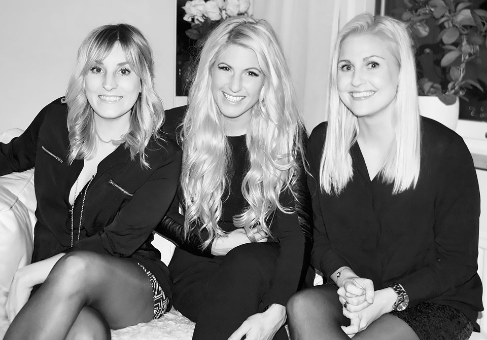 Sofia, Emma och Micha, frisörer på Strå hair & barber i Göteborg